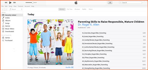 Parenting Audio Program