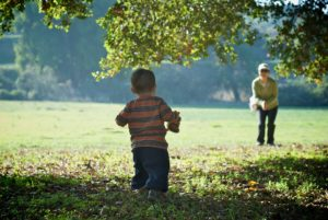 children bounce-back as they learn to walk