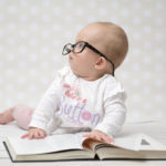 Funny Portrait of a Cute Baby Girl