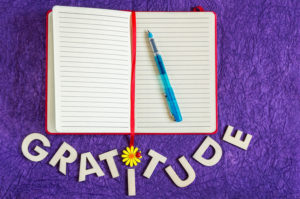 Keeping a gratitude journal leads to happiness
