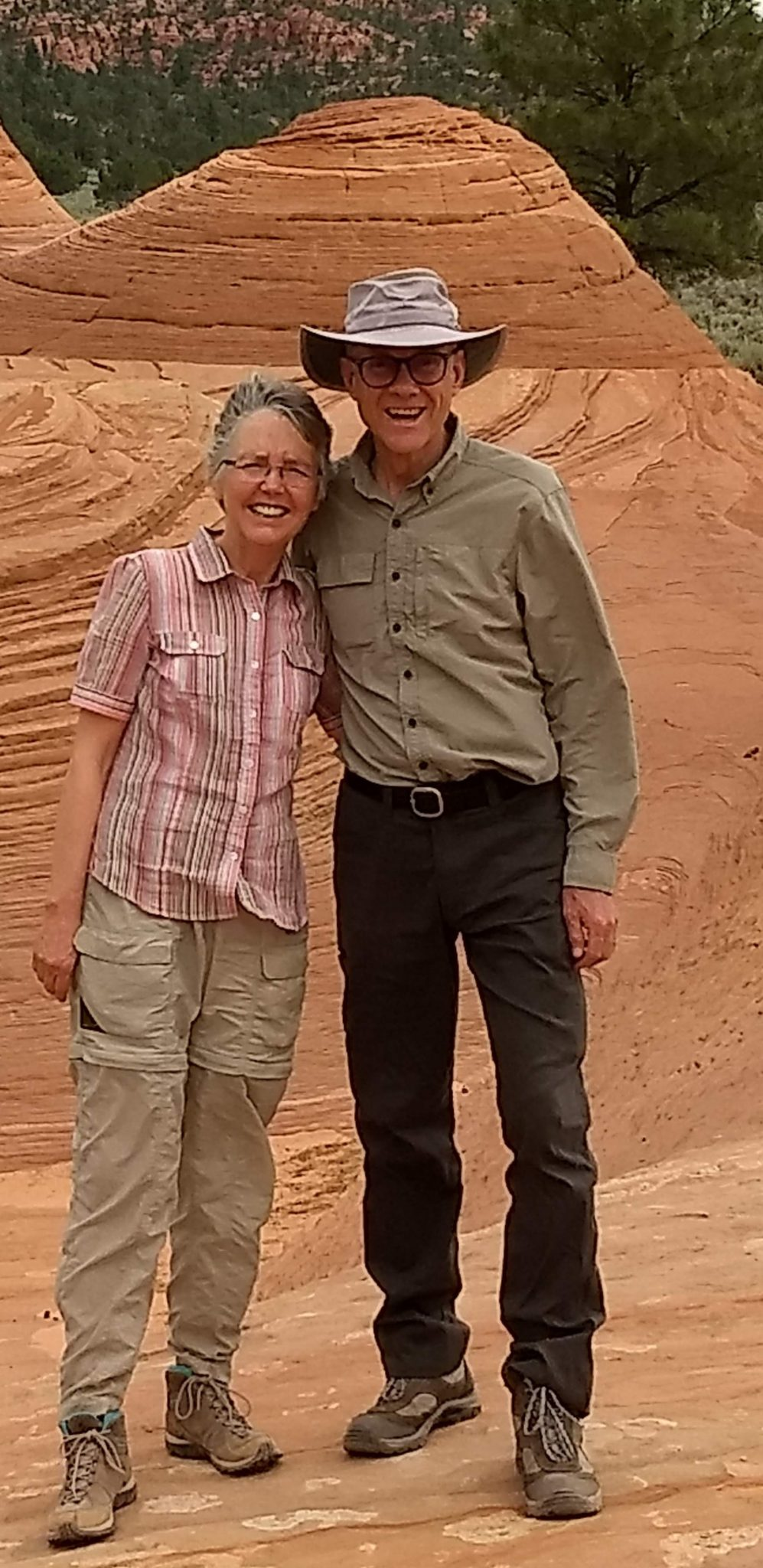 picture of Roger K. Allen and wife on a hike