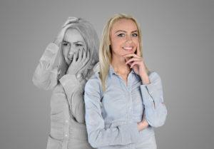 image of reactive vs proactive woman