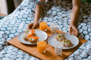 caring day behavior-breakfast in bed
